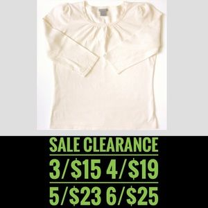 ANN TAYLOR Cream Sweater SALE CLEARANCE 3 for 15